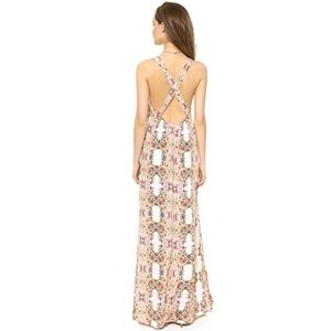 Flynn Skye Backless Apron Maxi Dress (S)